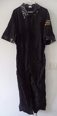 mens large JUMPSUIT HALLOWEEN COSTUME ATF ALCOHOL TOBACCO FIRE ARMS NEW black @@](Alcohol Halloween Costume)