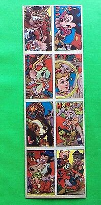 MENKO MICKEY MOUSE DONALD Rare Uncut Sheet Vintage Old Disney Japan Trading Card