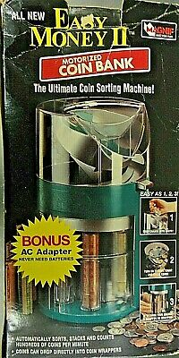 Easy Money Ii Motorized Coin Bank -ac Adaptor. Used In Box