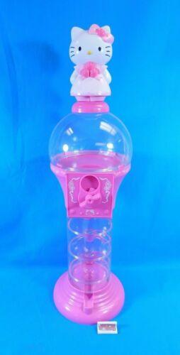 "Hello Kitty 24"" Spiral Gumball Machine & Coin Bank Sanrio Pink"