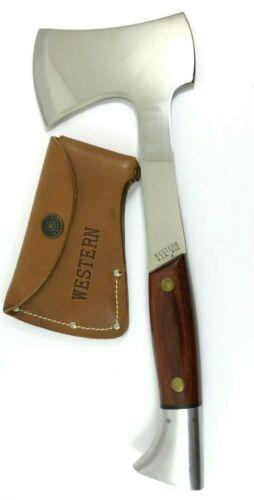 Western W10 J Axe Hatchet Vintage + Leather Belt Sheath 5195-LXX