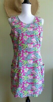 Lilly Pulitzer Vintage 80s Sleeveless Lined Mini Dress w/Pockets size 10