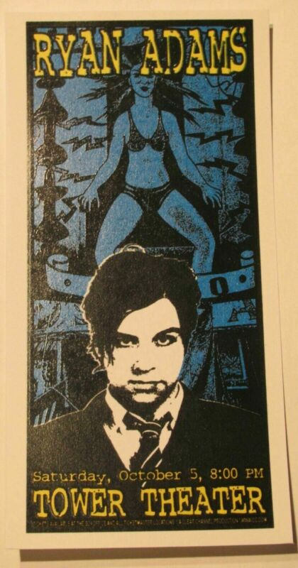 Ryan Adams Tower Theater Mini Poster Art Print - Downing Creek Jeff Wood