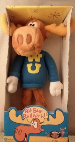 Vintage All Star Bullwinkle Plush Toy Moose Collectible Equity Toy 1998 NIB