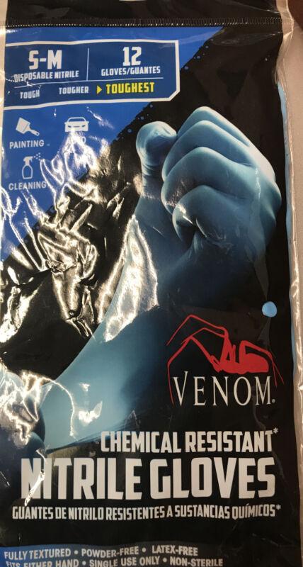 VENOM Chemical Resistant Disposable Nitrile Gloves (12 individual gloves)
