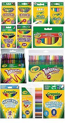 Crayola Crayons Supertips Twistables DryErase Markers Pencils Felt Tip Pen Chalk