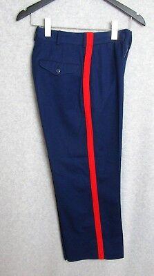 USMC US Marine Corps Sz 26S 26 x 26 NCO Dress Blues Blood Stripe Trousers Pants