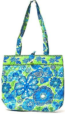 Abbergale Small Tote Shopping Shoulder Bag Handbag Colorful Cotton Quilted  - Small Totes