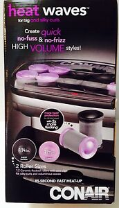 Conair Heat Waves Hot Ceramic Flocked Rollers, 2 Sizes - Super Jumbo/Jumbo