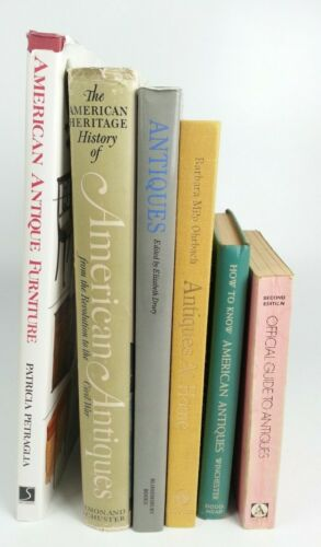 6pc Vtg American Antique History Books Lot Furniture Identification Price Guide