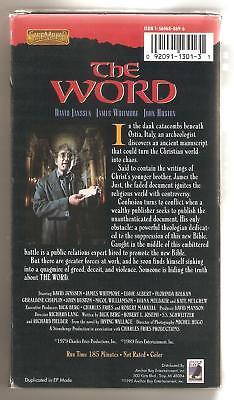 "David Janssen ""The Word"". Rare 1978 mini-series. Label says ""original unedited."""