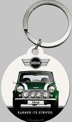 Nostalgic Art Mini Cooper grün green Schlüsselanhänger rund 4cm