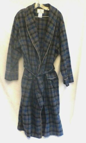 KNOTTY WOODPECKER 100% Heavy Flannel Cotton Robe High Quality S/M Plaid