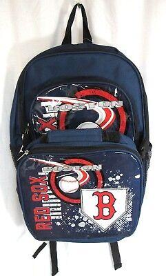 Boston Red Sox Lunch Box (New Boston Red Sox Backpack Lunch Box 3D Genuine Licensed Team Logo MLB Baseball )