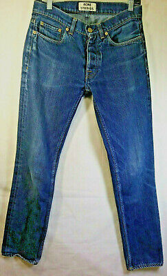ACNE STUDIOS Roc Raw 30 x 31 BUTTONFLY Jeans Free Returns