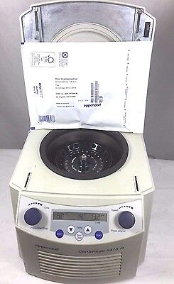 Eppendorf 5415r Refrigerated Centrifuge W Rotor New Lid 6 Month Warranty