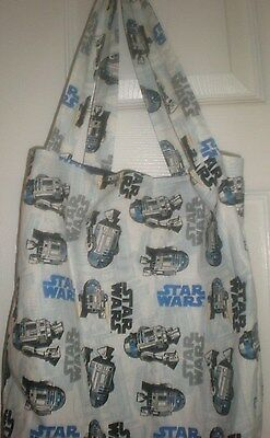 "Star Wars The Force Awakens R2-D2 Tote New Handmade 15.5""x15.5"""