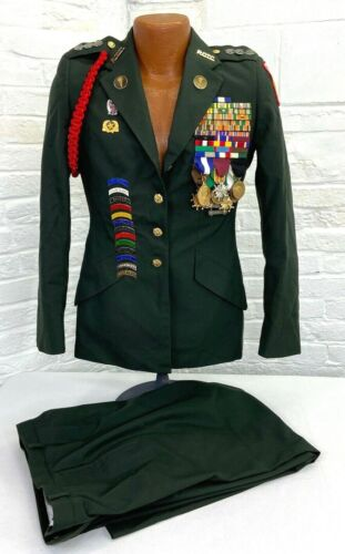 US Army JROTC Female Decorated Uniform