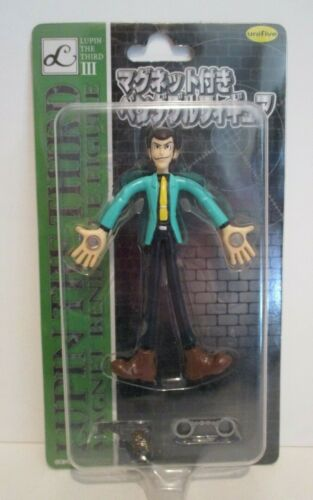 """LUPIN THE THIRD JAPANESE ANIME JAPAN UNIFIVE 4"""" BENDY MAGNET FIGURE CARDED 2002"""