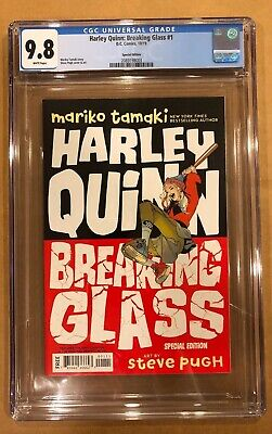 Harley Quinn Glasses (HARLEY QUINN: BREAKING GLASS # 1 CGC 9.8! SPECIAL RETAILER PREVIEW)