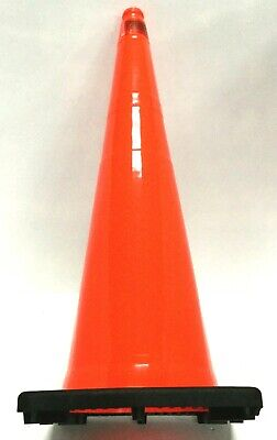 Jbc Weather Resistant Safety Durable Flexible Vinyl Traffic Cone Orange 36