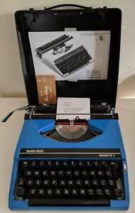 Retro 70s Silver Reed Manual Typewriter W Case Manual & Ribbon SOLD Keysborough Greater Dandenong Preview