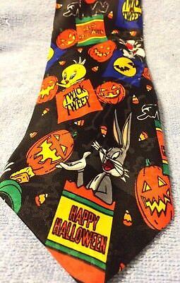LOONEY TUNES MANIA HAPPY HALLOWEEN TWICK OR TWEET MEN'S NECKTIE - Halloween Mania