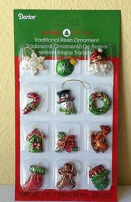 Miniature Dollhouse Mini Tree CHRISTMAS 12 Asst 1¼
