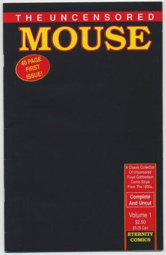THE UNCENSORED MOUSE #1—1st Disney MICKEY MOUSE Comic Strips Jan-Mar 1930, NEW