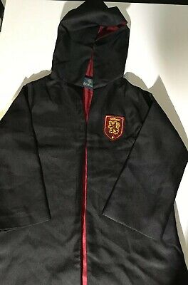 POTTERY BARN KIDS HARRY POTTER GRYFFINDOR DRESS UP ROBE CLOAK COSTUME SIZE 7-8