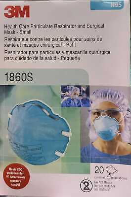 3m 1860s Small N95 Particulate Respirator Surgical Mask Box Of 20