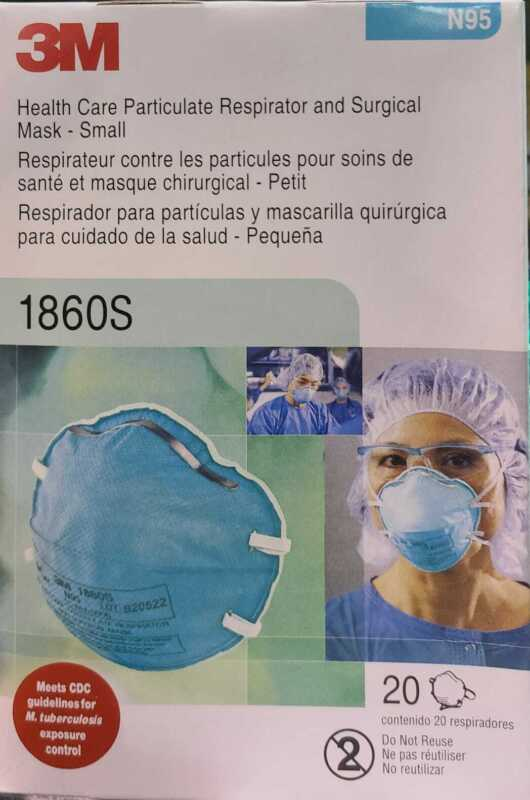 3M 1860s Small N95 Particulate Respirator Surgical Mask (Box of 20)