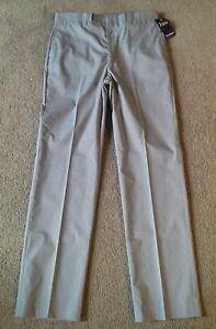 NWT Vintage Farah Men's Gray Flat Font Dress Pants - Size 34 x 34