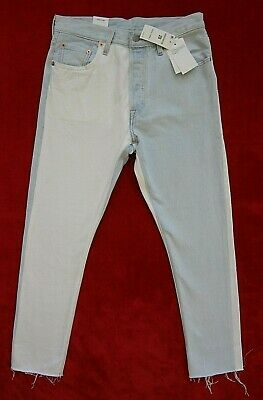 94989b34f10 Levis 501 Skinny Jeans Womens Size 28 inches Blue White Denim Button Fly
