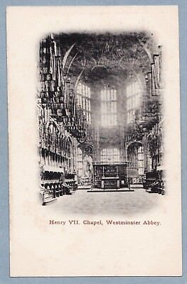 VINTAGE POSTCARD - HENRY VII CHAPEL WESTMINSTER ABBEY