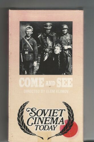"""Rare COME and SEE """"Soviet Cinema today"""" vhs Tape Partisans"""