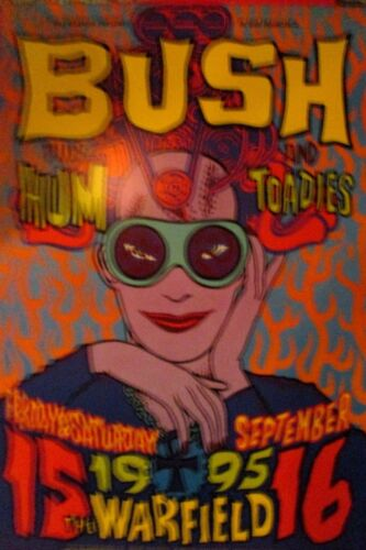 BUSH WARFIELD POSTER Hum TOADIES  BGP129 Original BILL GRAHAM Chuck Sperry