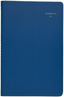 2021 At-a-glance 70-108-20 Weekly Planner 5 12 X 8 12 Blue Cover New
