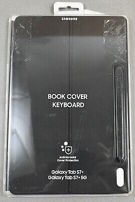 Samsung Galaxy Tab S7+ Plus Antimicrobial Book Cover Keyboard | EF-DT970UBEGUJ