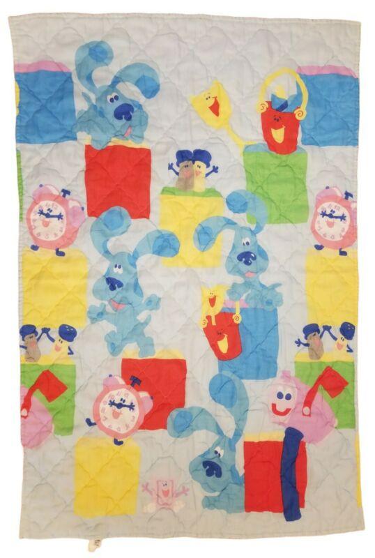 VTG Blues Clues Comforter- Baby Blanket Crib Nursery Bedding Quilt Dog Rare USA