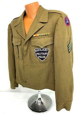 Vintage US 3rd Army Auxiliary Military Police Enlisted Ike Jacket