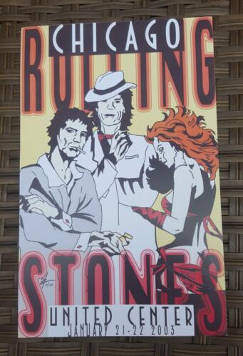 Rolling Stones Poster 1/21&22/03 United Center Chicago Mick Jagger