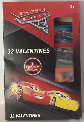 32 Valentines Cars 3 Disney Pixar 8 Lenticular Designs