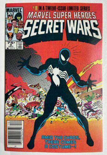 Marvel Super-Heroes Secret Wars #8 - Spider-Man Venom 1st Symbiote Newsstand NM