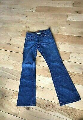RRP£195 JAMES JEANS Designer Blue Boot Cut Figure-Flattering Jeans W25 L30