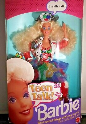 "1991'~ Mattel ~ Barbie ""Teen Talk "" Doll ~ # 5745 Blonde ~ NRFB ` NEW** ~ (JP)"