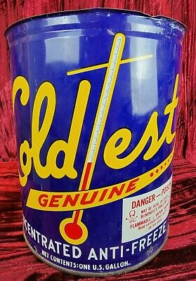1X Gallon Antique Coldtest genuine Concentrated Anti Freeze, Danger Poison Bennys