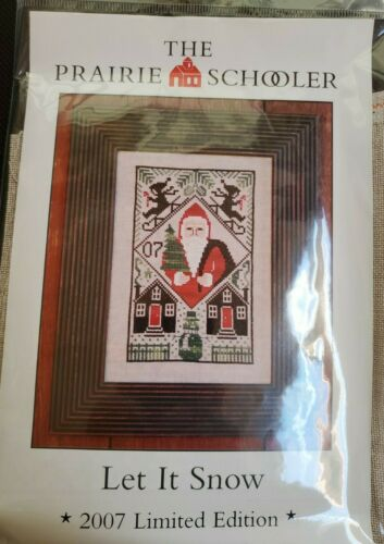 """The Prairie Schooler """"Let It Snow"""" Counted Cross Stitch Kit Sealed Complete 2007"""