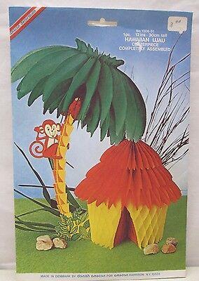 Vintage Amscan Decoration Centerpiece Hawaiian Luau Denmark No. 1306-51 Tiki - Vintage Luau Decorations