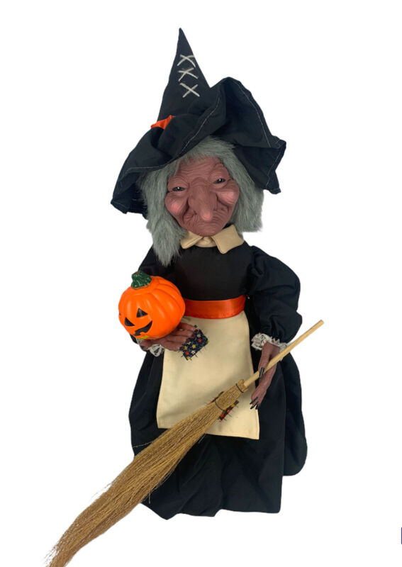 """Vtg 1988 Telco Motionettes Witch Halloween Animated Lighted 24"""" Box Tested Works"""